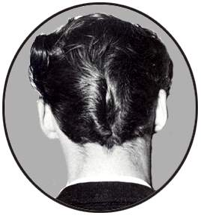 ducktail-hair