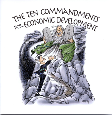 Ten Commandments for Economic Development