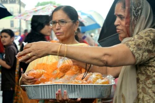 Residents Bring Offerings